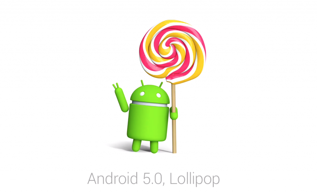 android logo holding a lollipop