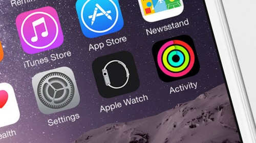 zoom on app icons on an iphone homescreen