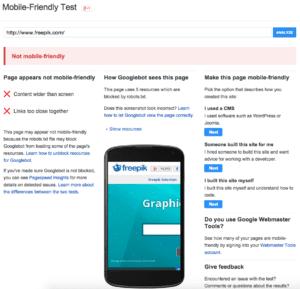 mobile friendly test screenshot