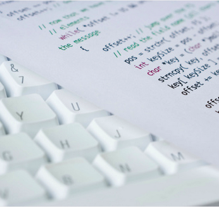 paper on white keyboard