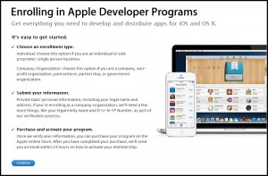 AppStore Freelance App Developers Registration Form