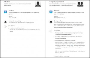 apple developer programs enrollment screenshot