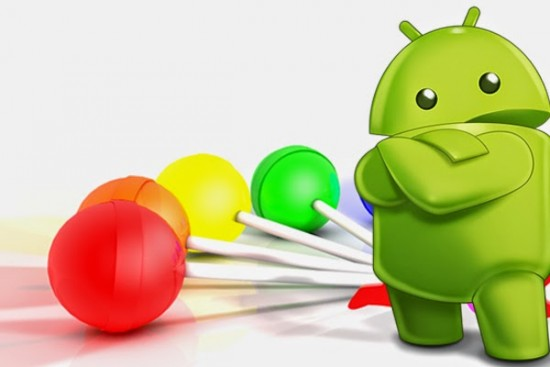 android figure with lollipops