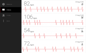 cardiograph app screenshot interface