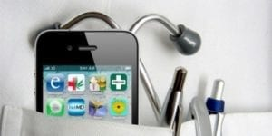 iphone in a pocket with medical tools
