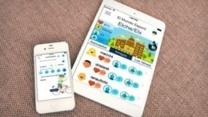 apps open on an iphone and a tablet