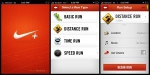 screenshots app nike running