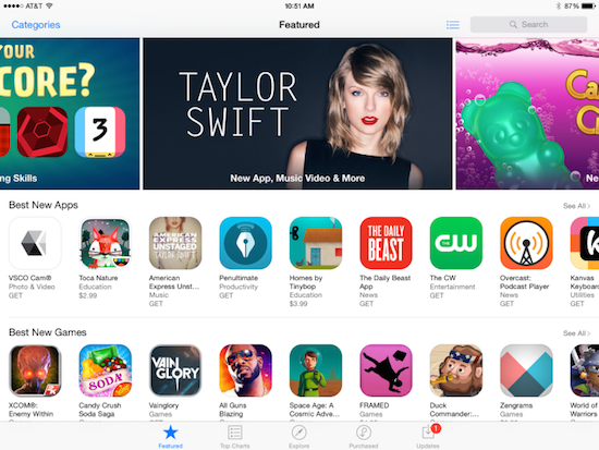 appstore homepage