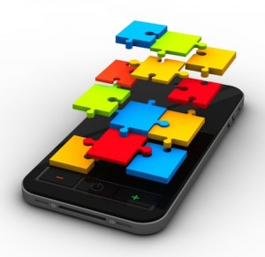 smartphone with puzzle