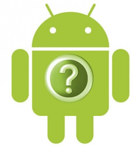 logo Android with question mark