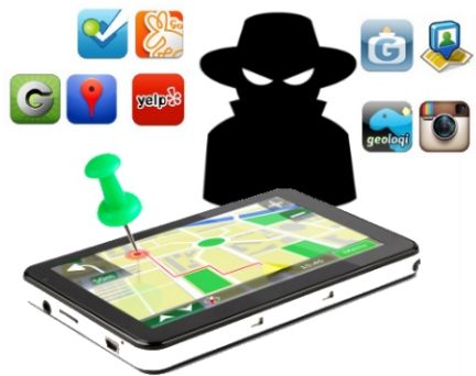 smartphone with map and apps