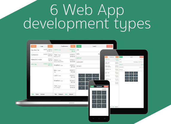 web app development types