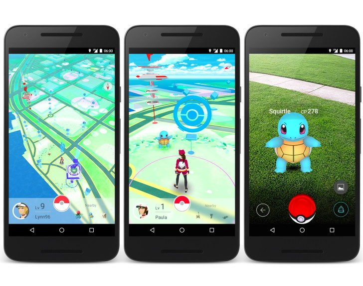 develop an app - Pokemon Go