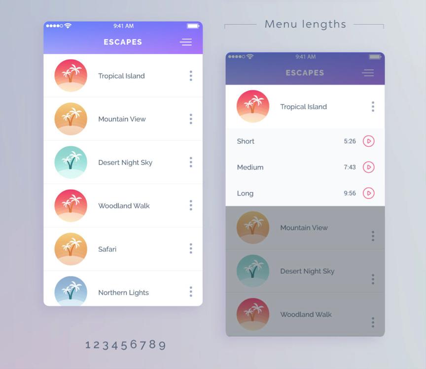 UI design - mobile app design