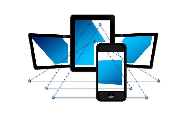 illustration of different devices- cross platform app development