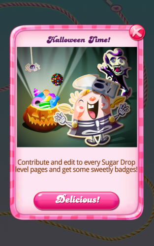 screenshot from Candy Crush mobile game