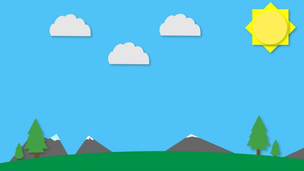 Flat Design of landscape