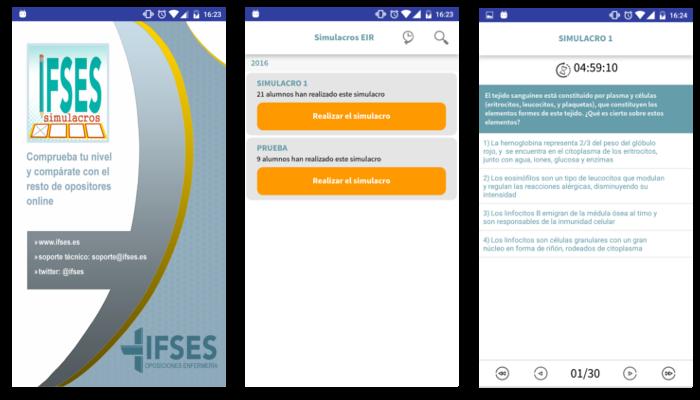 screenshot of exam simulator page