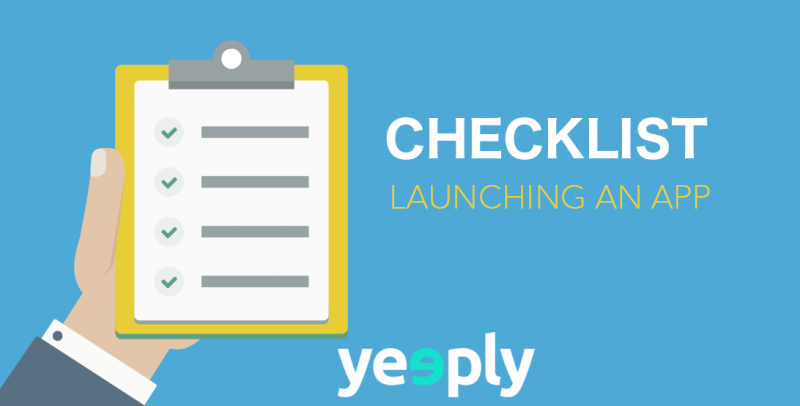 Checklist - Launching an app
