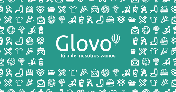 Glovo in the middle of symbols