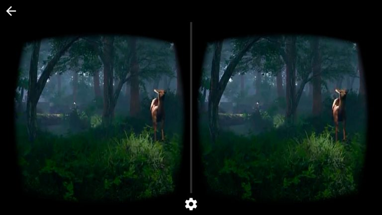 virtual reality in a forest