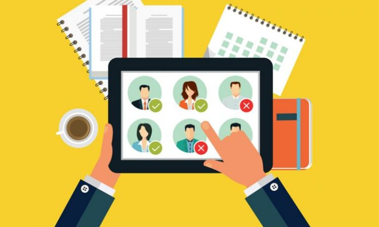 recruitment app on a ipad