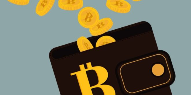 bitcoins flysing out of purse