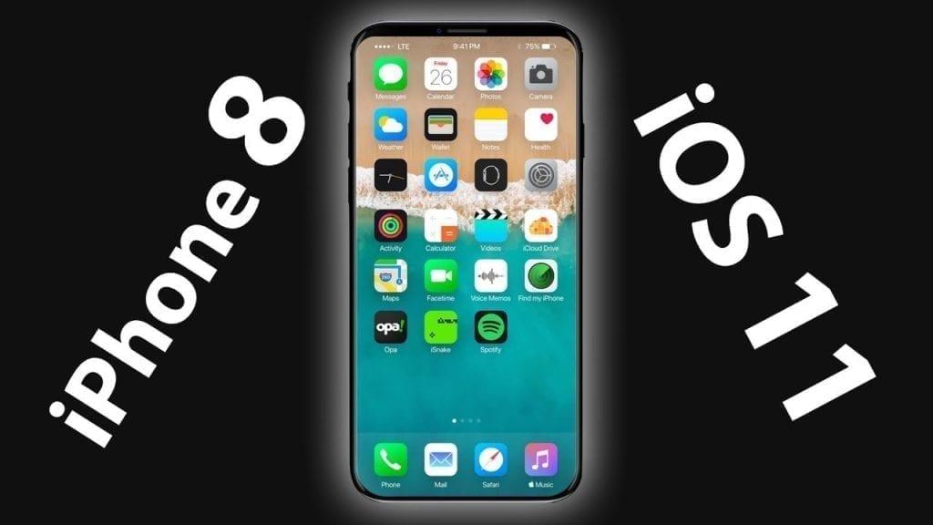 iphone 8 ios 11 letters around iphone