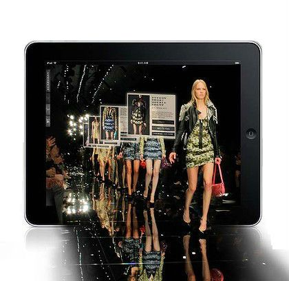 tablet with fashion Runway