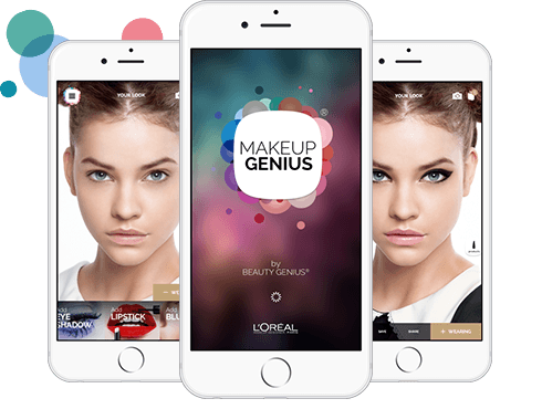 screenshots of Loreal Makeup Application