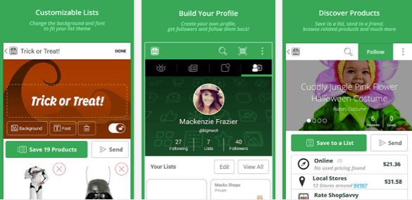 screenshots of app for discounts