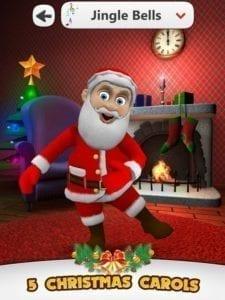 App with dancing Santa