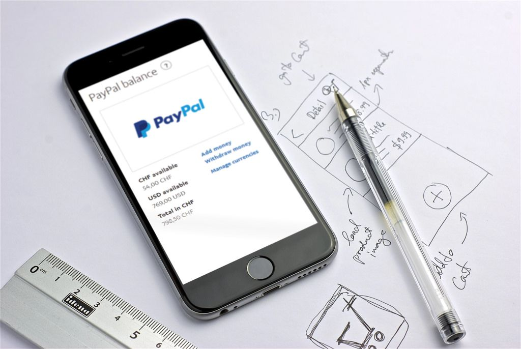 paypal app on black iphone