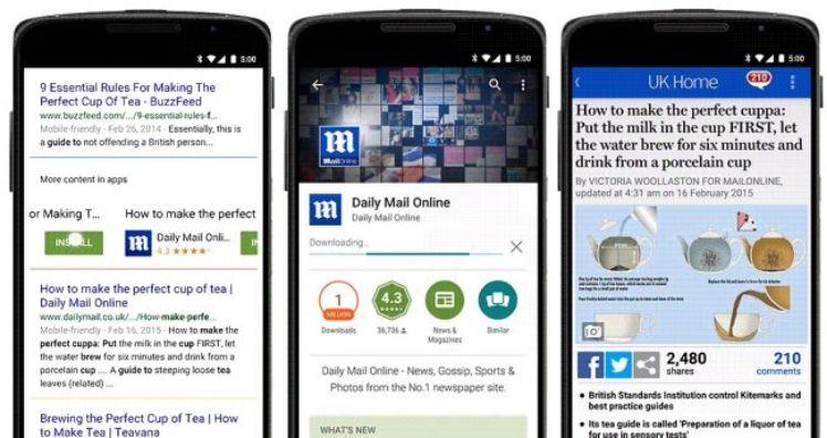 three smartphones with websites