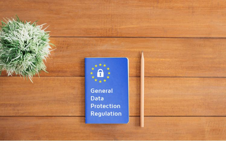 GDPR notebook and pen