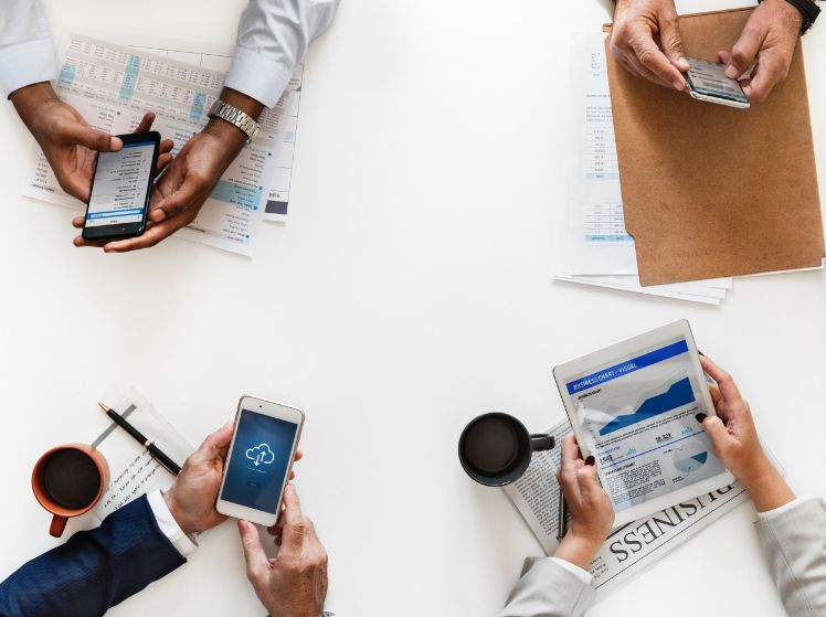 business meeting- mobile apps for your business