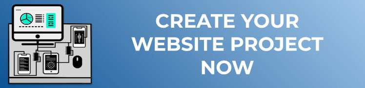 create your website project now
