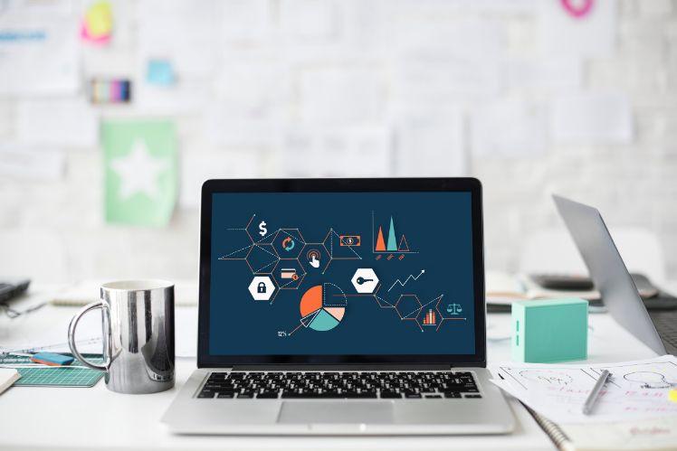 desktop on a desk- custom web design