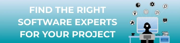 cta banner- find the right software experts for your project