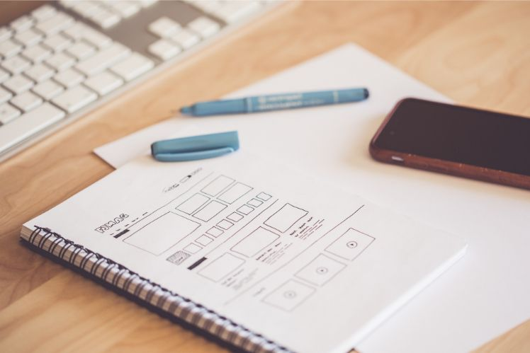 app wireframes - create custom app