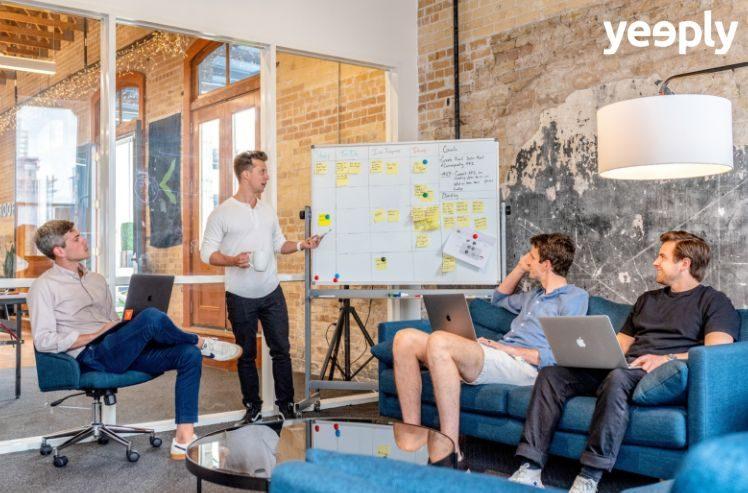 team brainstorming- international marketing plan