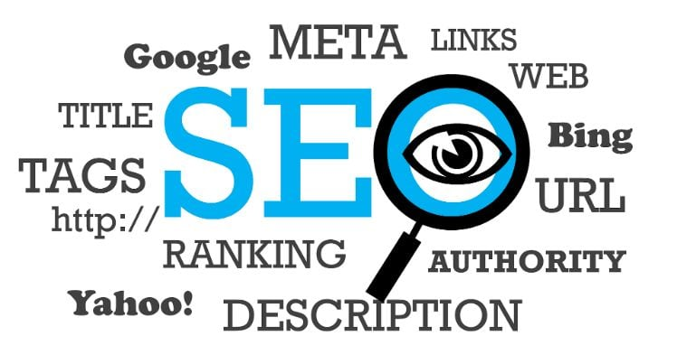 illustration of words related to SEO