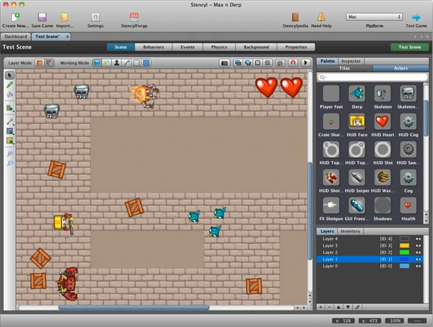 screenshot of a 2d game