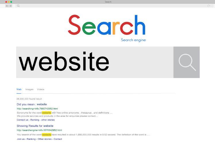 search - web design errors