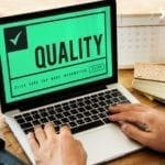 quality test on laptop- app testing phase