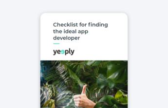 checklist for the ideal app developer e-book cover of yeeply