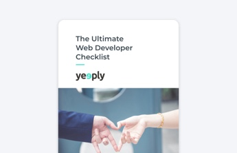 web developer checklist ebook cover of yeeply