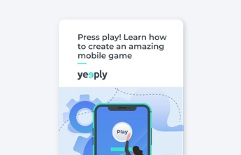 creation of a mobile game ebook cover of yeeply