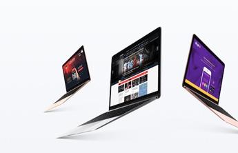 3 different laptops showcasing different websites