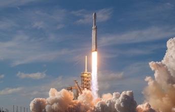 a space rocket and smoke